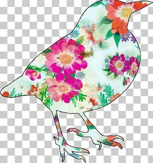 Bird Flower Art PNG