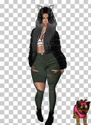 Fashion Model Fur PNG
