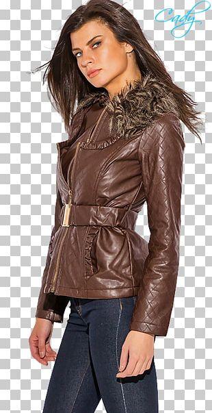 Leather Jacket Coat Fur Clothing Fashion Sleeve PNG