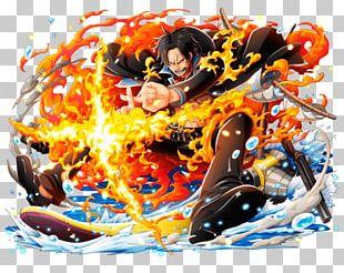 One Piece Treasure Cruise Portgas D. Ace Monkey D. Luffy Edward Newgate Usopp PNG