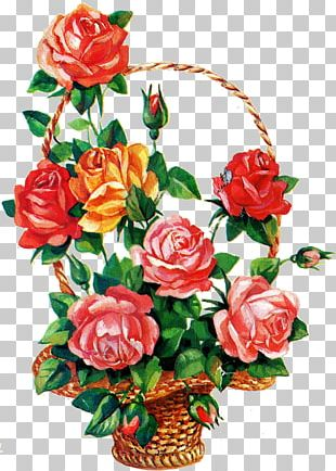 Flower Bouquet Birthday Garden Roses Ansichtkaart PNG