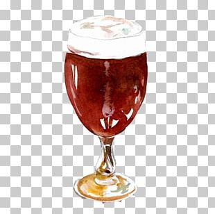 Red Wine Glass Watercolor Painting PNG