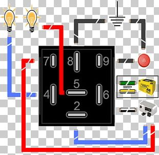 Blinklys Relay Circuit Diagram Electronics Electrical Network PNG