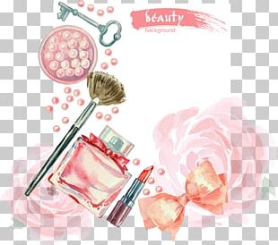 Hand-painted Watercolor Cosmetics PNG