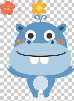 Hippopotamus Animal Kinder Happy Hippo Cartoon PNG