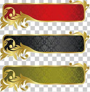 Gold Banner Ribbon PNG
