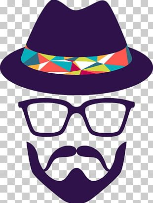 Hipster Retro Style Beard Vintage Clothing PNG