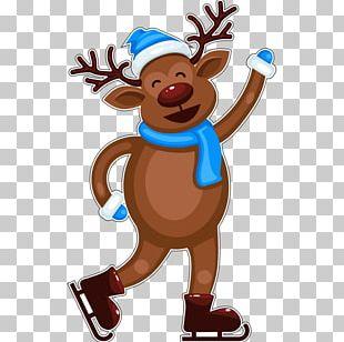 Reindeer Santa Claus Gingerbread House Christmas PNG