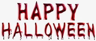 English Red Blood Happy Halloween Font PNG