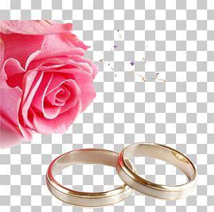 Wedding Invitation Wedding Ring Rose PNG