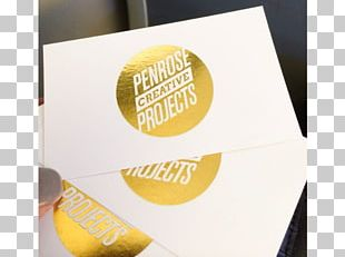 Foil Stamping Printing Business Cards Gold PNG