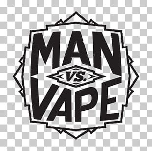 Logo Man Vs Vape Electronic Cigarette Aerosol And Liquid Brand PNG