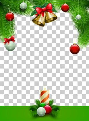 Santa Claus Christmas Card Frame PNG