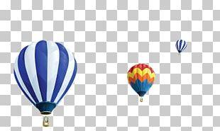 Hot Air Balloon Blue PNG