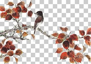 Paper Chinese Painting Twig Branch PNG