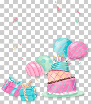 Birthday Party Cake Gift PNG
