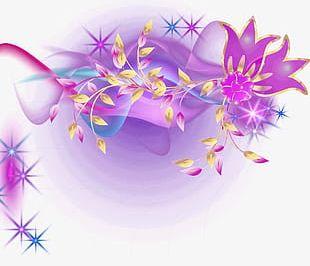 Fantasy Flowers Light Effect PNG
