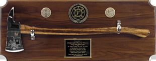 Firefighter Axe Commemorative Plaque Award Fire Department PNG