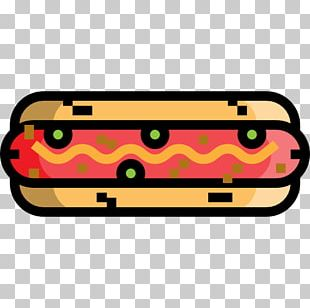 Hot Dog Sausage Fast Food Icon PNG