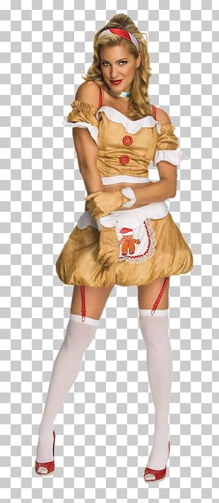 Halloween Costume Clothing Woman Gingerbread Man PNG