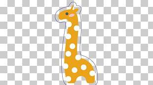 Giraffe Cartoon Pattern PNG