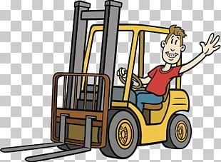 Forklift Cartoon Heavy Equipment Illustration PNG