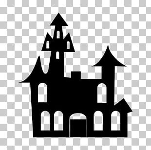 Haunted House Halloween PNG