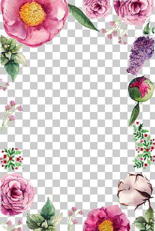 Flower Birthday Greeting Card PNG