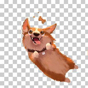 Pembroke Welsh Corgi Puppy Model Sheet Illustration PNG