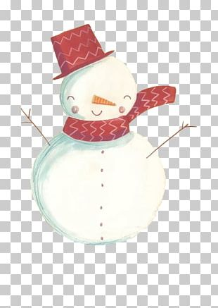 Snowman Scarf Doll Hat PNG