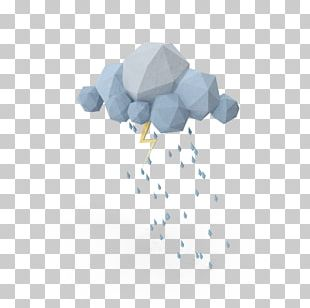 Low Poly Cloud 3D Computer Graphics PNG