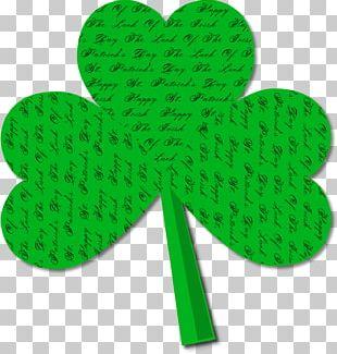 Saint Patrick's Day Shamrock Leprechaun Symbol Clover PNG