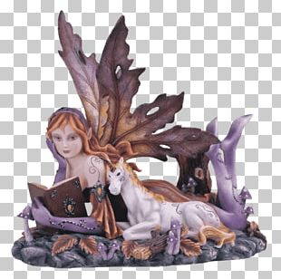Figurine Fairy Statue Art Unicorn PNG