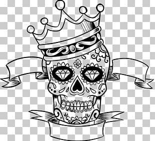 La Calavera Catrina Skull Day Of The Dead Coloring Book PNG