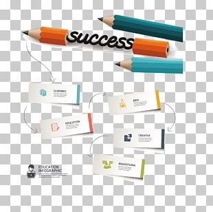 Pencil Infographic PNG