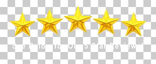 Yellow Star Symmetry Font PNG