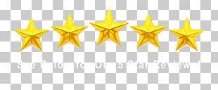 Yellow Star Symmetry Font PNG