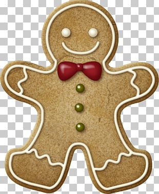 The Gingerbread Man Christmas Cookie PNG
