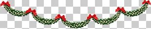 Christmas Ornament Leaf Font PNG
