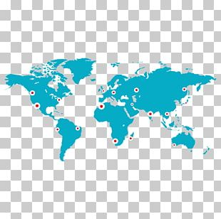 Wall Decal Sticker World Map PNG