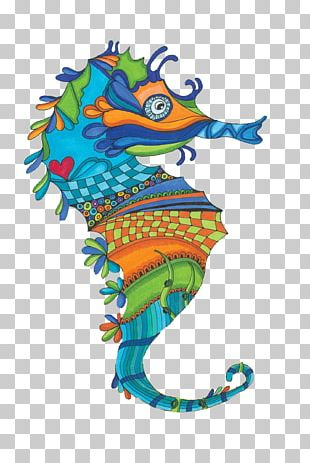 Seahorse Artist PNG