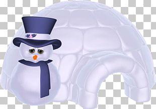Igloo Snowman Christmas PNG