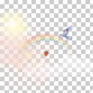 Light Rainbow Cloud Iridescence PNG