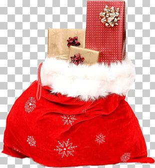 Santa Claus Christmas Gift Christmas Gift Gunny Sack PNG