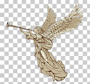 Trumpet Angel Illustration PNG