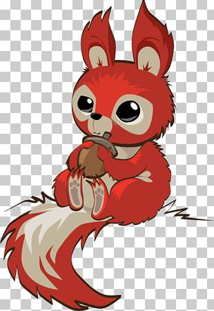 Whiskers Red Squirrel PNG