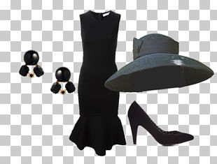 Black Givenchy Dress Of Audrey Hepburn Holly Golightly Breakfast At Tiffany's Hat PNG