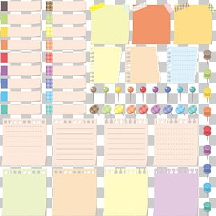 Paper Post-it Note Drawing Pin Illustration PNG