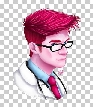 Sticker Glasses Drawing Clinic Brown Hair PNG