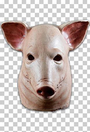 Pig Latex Mask Halloween Costume PNG